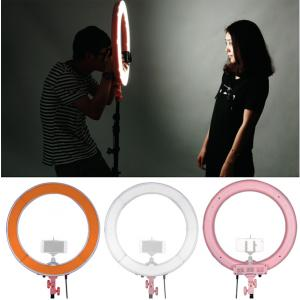 LED Ring light with Power Control size 18in (240ดวง) - Pink