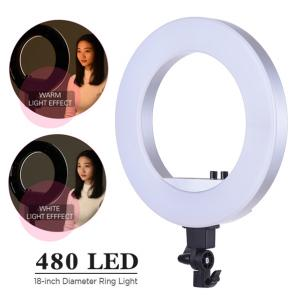 LED Ring Light CY-R50L Silvery with Power Control size 18in (480ดวง)