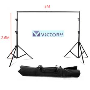 VICTORY VT-V306 Backdrop Stand With Carry Bag 2.6 X 3m